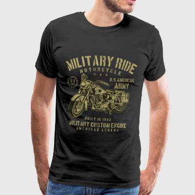 MILITARY RIDE - Army Motorcycle Shirt Motif - Men's Premium T-Shirt