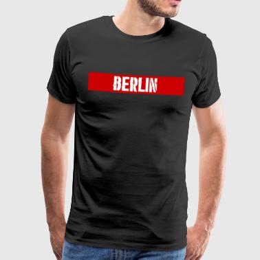 Berlin RedStripe - Premium T-skjorte for menn