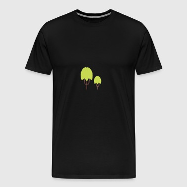 Thick Happy Tree Color - Men's Premium T-Shirt