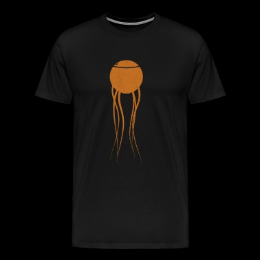 Sci-Fi Spore Orange - Men's Premium T-Shirt