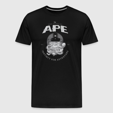 To hjul Ape Windy Biker T-shirt - Herre premium T-shirt