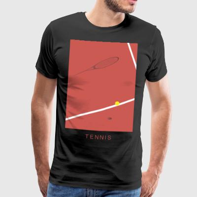 tennis Art - Premium-T-shirt herr