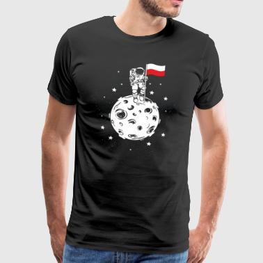 Poland flag on the moon Gift astronaut - Men's Premium T-Shirt