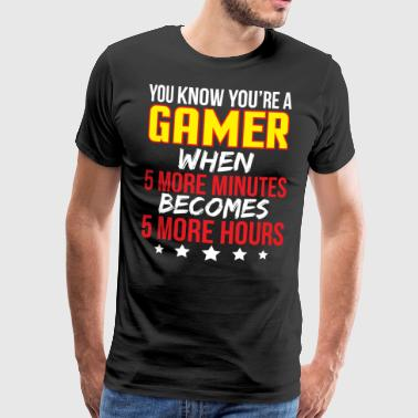 Cool Video Game Addict Gamer T-skjorte - Premium T-skjorte for menn
