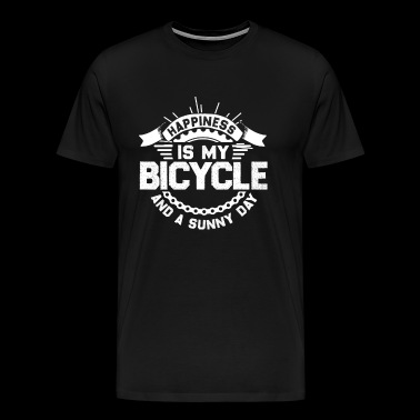 Happiness is my bicycle and a sunny day - Men's Premium T-Shirt