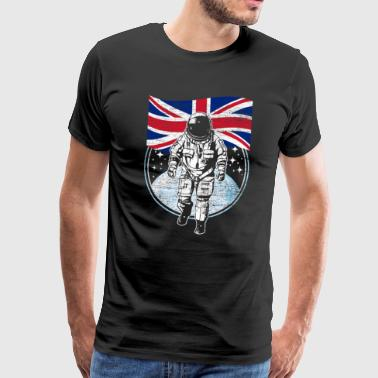 Great Britain flag in space Astronaut - Men's Premium T-Shirt