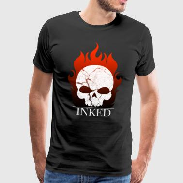 flaming skull skull tattoo gift - Men's Premium T-Shirt