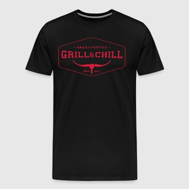 Grill and Chill / BBQ and Lifestyle Logo 1 - Männer Premium T-Shirt