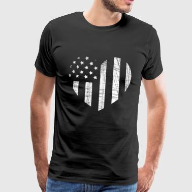 Heart with the flag of the USA shirt - Men's Premium T-Shirt