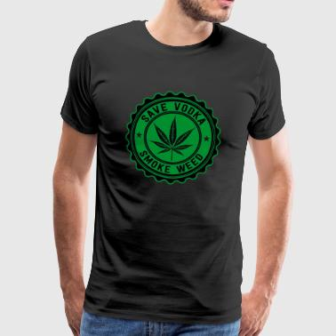 Weed vs Vodka - Mannen Premium T-shirt