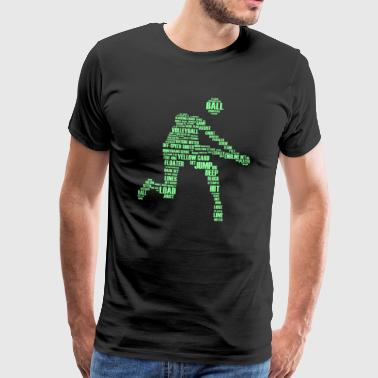 Volleyball Joueur de Beach Volleyball - T-shirt Premium Homme