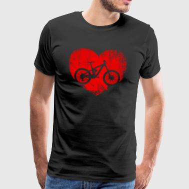 I love I Love heart bike gift - Men's Premium T-Shirt