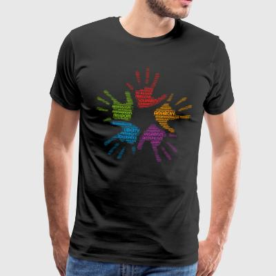 veganism word cloud - Men's Premium T-Shirt