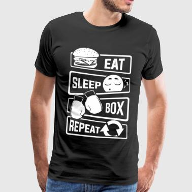 Eat Sleep Box Repeat - Boxen Boxer Uppercut Jab - Männer Premium T-Shirt