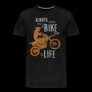Motocross bike side - Men's Premium T-Shirt
