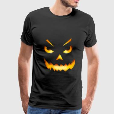 Halloween Face Pumpkin Pumpkin Devil Glow Horror - Men's Premium T-Shirt