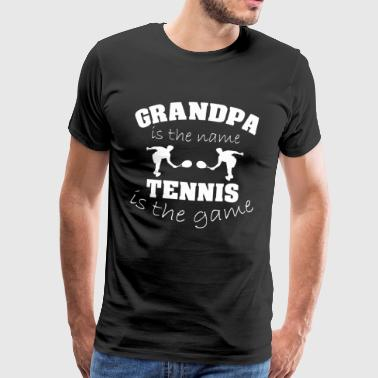 OPA GRANDPA OPI GRANDPA TENNIS TENNIS PLAYER - Men's Premium T-Shirt