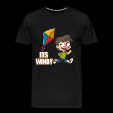 It's windy - Men's Premium T-Shirt