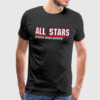 All stars - effective sports nutrition - Men's Premium T-Shirt