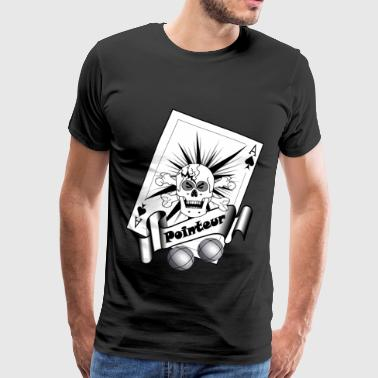 t shirt petanque pointeur crane boules as pointeur - T-shirt Premium Homme