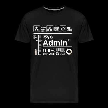 Sys admin programming computer nerd pc board cpu - Men's Premium T-Shirt