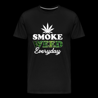 blad smoke weed everyday gift gras cannabis - Mannen Premium T-shirt