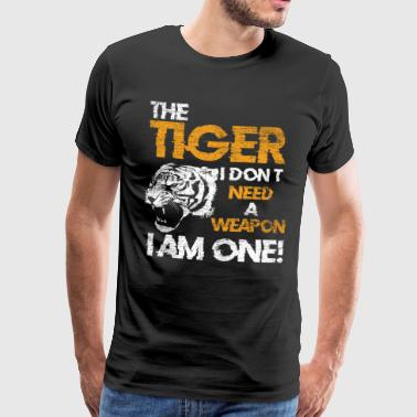 Tiger cat predator gift animal - Men's Premium T-Shirt