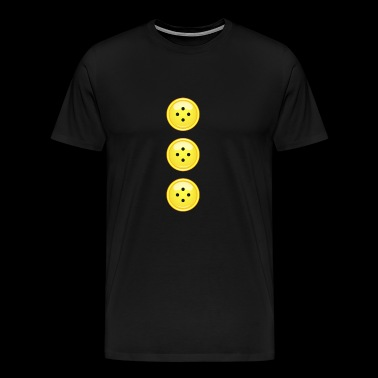 colored buttons yellow button button extravagant fashion - Men's Premium T-Shirt