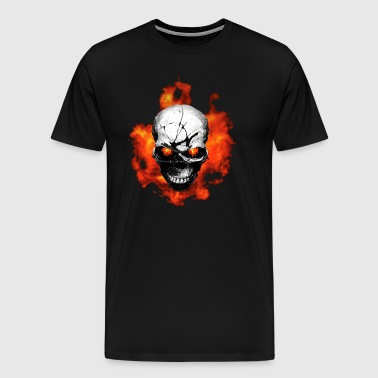 Skull with fire - Men's Premium T-Shirt