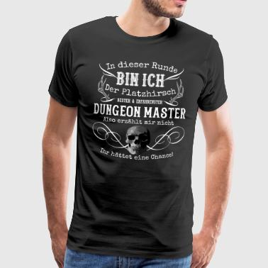 Dungeon Master game Bordspel Geek Skull - Mannen Premium T-shirt