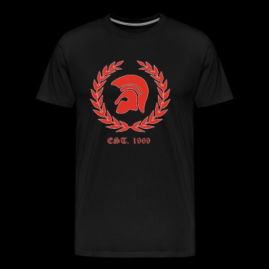 Trojan Skinheads Punk Oi 1969 SKA laurel wreath - Men's Premium T-Shirt