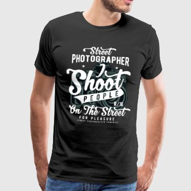 Street Photographer Photography Photo Camera Flash - Men's Premium T-Shirt