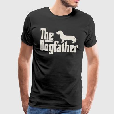 The Dogfather - Dachshund, Wire-haired Dachshund, Teckel - Men's Premium T-Shirt