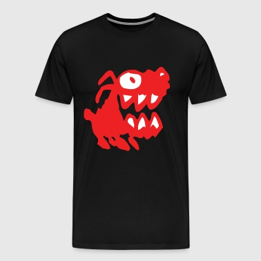 Bow Wow! Red Cartoon Dog by Cheerful Madness!! - Men's Premium T-Shirt