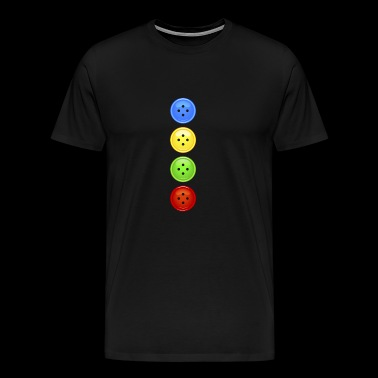 colored buttons colorful button button extravagant fashion - Men's Premium T-Shirt