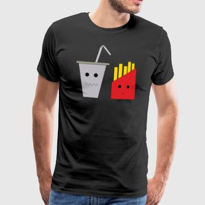 Happy fries with depressed paper cup - Men's Premium T-Shirt