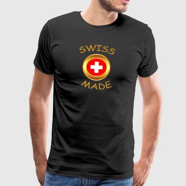 """Swiss made"" - Herre premium T-shirt"