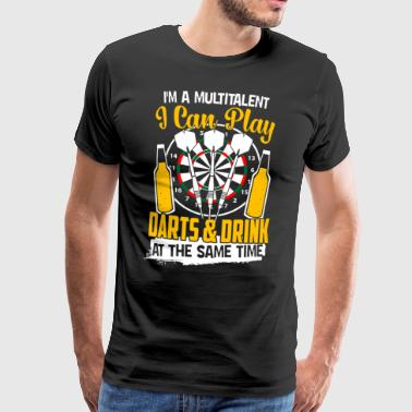 Darts - Play darts and drink same time - Men's Premium T-Shirt