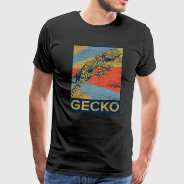 Gecko rectangle couleur v1 - T-shirt Premium Homme