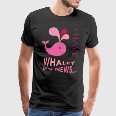 Pink Whale. Pregnancy announcement. New baby.SALE - Men's Premium T-Shirt