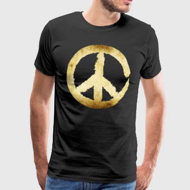Peace Sign - Gold - Men's Premium T-Shirt