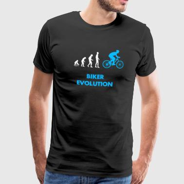 biker evolution - Premium T-skjorte for menn