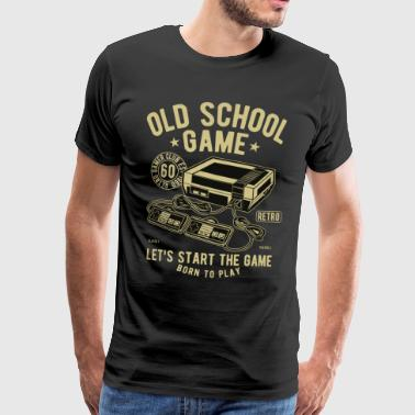 Oude School Game Video Game Gaming Retro Vintage - Mannen Premium T-shirt