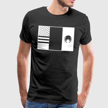 3flags wite - T-shirt Premium Homme