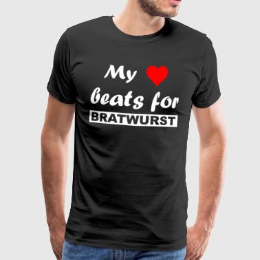 Love - My heart beats for bratwurst - Men's Premium T-Shirt