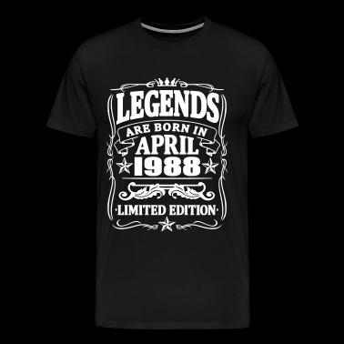 Legends are born in april 1988 - Men's Premium T-Shirt