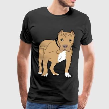 Muscular pit bull brown gift idea - Men's Premium T-Shirt