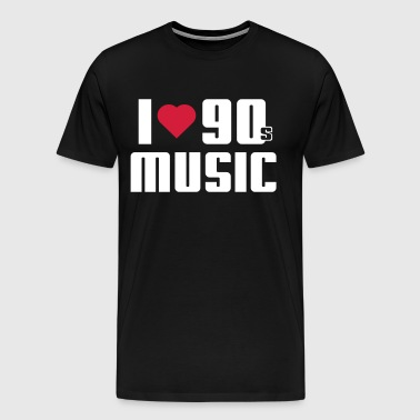 I Love 90s Music - Men's Premium T-Shirt