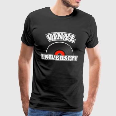 vinyl universitet - Herre premium T-shirt