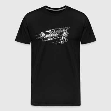 Airplane / Airplane 01_white - Men's Premium T-Shirt